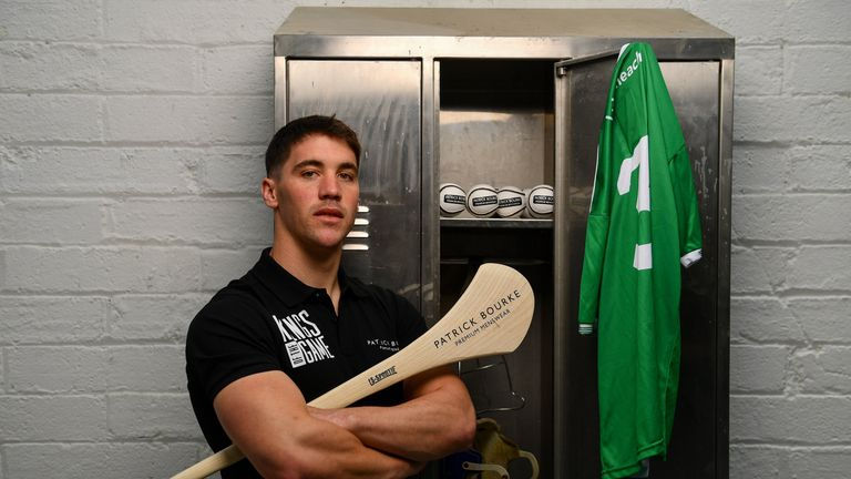 Sean Finn is pictured at the Patrick Bourke Menswear 'Kings Of The Game' campaign launch