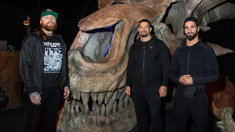 Rollins and former Shield brother Roman Reigns checked out some Game of Thrones exhibits alongside Aleister Black