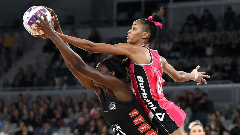 Defender Sterling recorded eight intercepts against the  Collingwood Magpies, equaling Sharni Layton's record for the most intercepts in a Super Netball game
