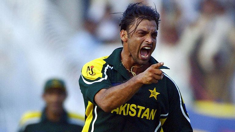 Pakistan fast bowler Shoaib Akhtar served as a role model growing up