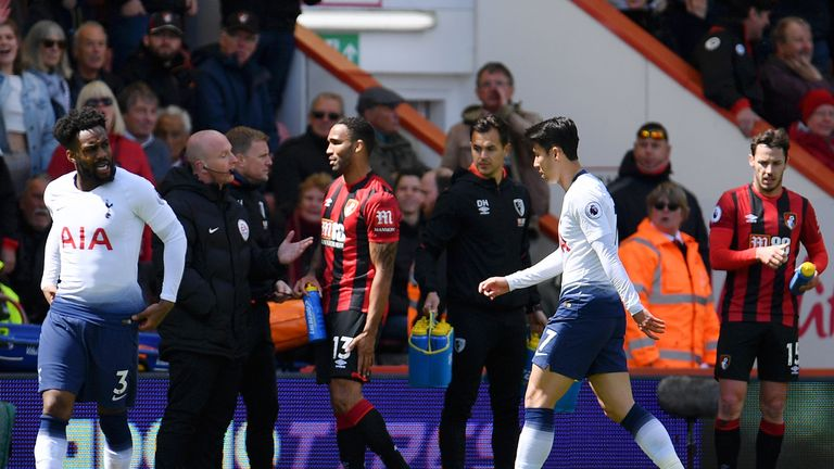 Son's red card at Bournemouth at the end of last season means he will miss the first two matches of the 2019/20 season