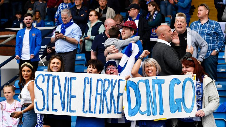 'Stay, stay, stay' were the cries from Kilmarnock supporters