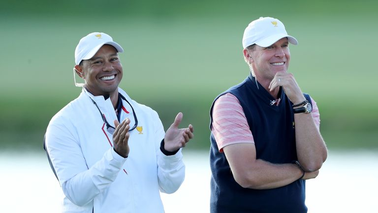 Tiger Woods was an assistant to captain Steve Stricker at the Presidents Cup in 2017