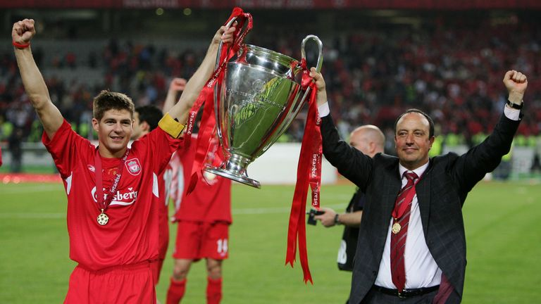 Rafa Benitez led Liverpool to the Champions League title in 2005