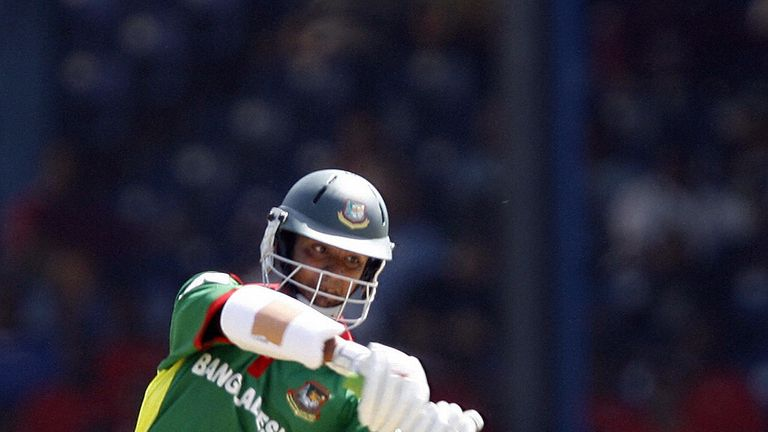 Bangladesh's Tamim Iqbal goes on the offensive against India in Trinidad