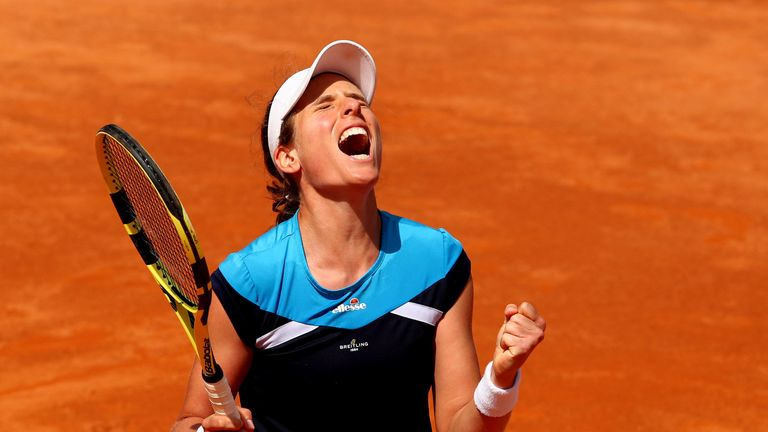 Johanna Konta reaches Italian Open final after victory over Kiki Bertens
