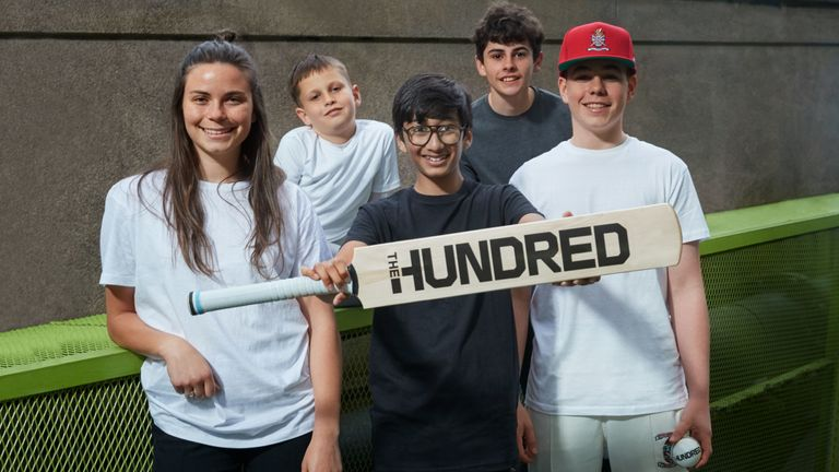 Stoke Newington Cricket Club helped to unveil The Hundred logo