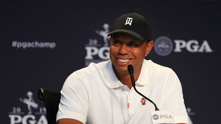 Woods intended to play nine holes on Wednesday