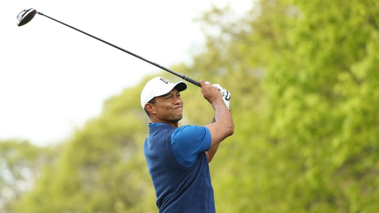 Woods ended his round nine behind Koepka