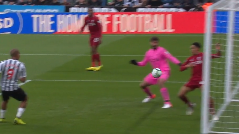 Why wasn't Trent Alexander-Arnold sent off for Liverpool at Newcastle on Friday night?