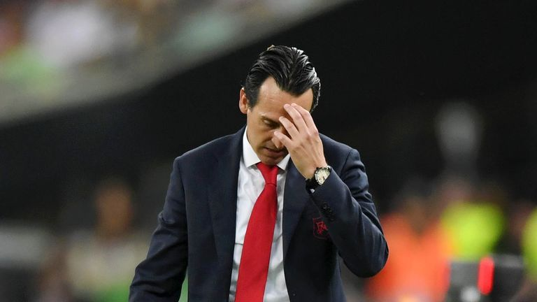 Unai Emery's Arsenal fell apart in the second half of the Europa League final