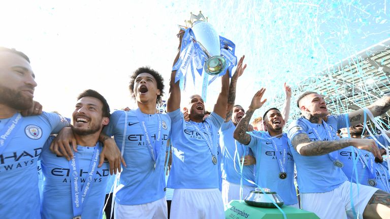 Vincent Kompany will be hoping to lift the FA Cup on Sunday to complete a domestic treble