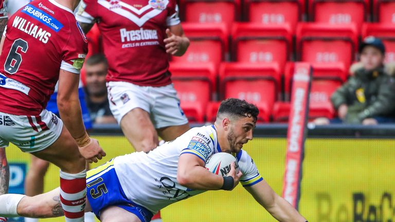 Warrington's Declan Patton got the only try of the first half