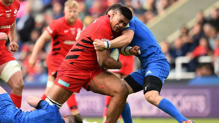 Skelton helped guide Saracens to victory in the Champions Cup final against Leinster