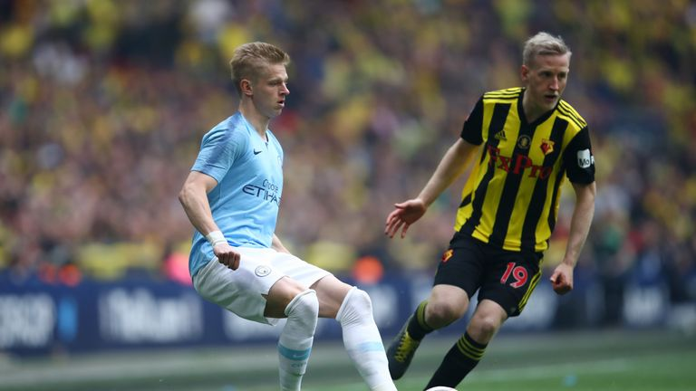 The Ukrainian was part of the Manchester City side that thrashed Watford 6-0 in the FA Cup final
