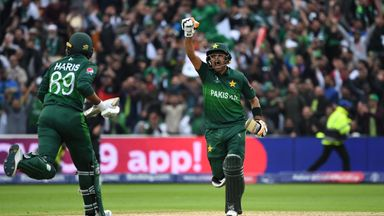 Babar Azam scored his first century in a World Cup