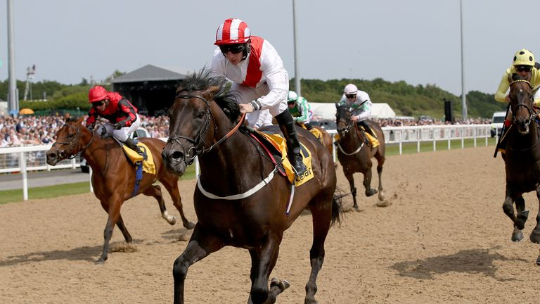 Invincible Army ridden by P J McDonald wins the Betfair Exchange Chipchase Stakes