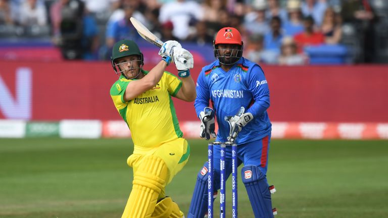 Captain Aaron Finch hit 66 and was then full of praise for Warner's resilience