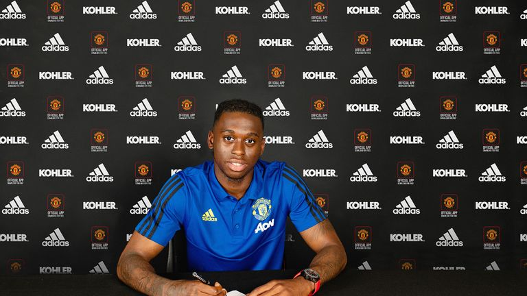 Aaron Wan-Bissaka completed his move to Manchester United from Crystal Palace