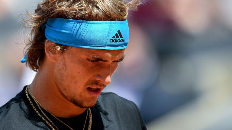 Alexander Zverev was unable to maintain his impressive start to the match