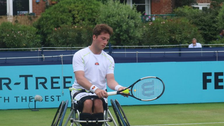 Alfie Hewett reached the wheelchair final at Queen's Club