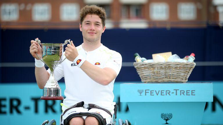 Alfie Hewett beat Gordon Reid to win the wheelchair singles at the Fever-Tree Championships