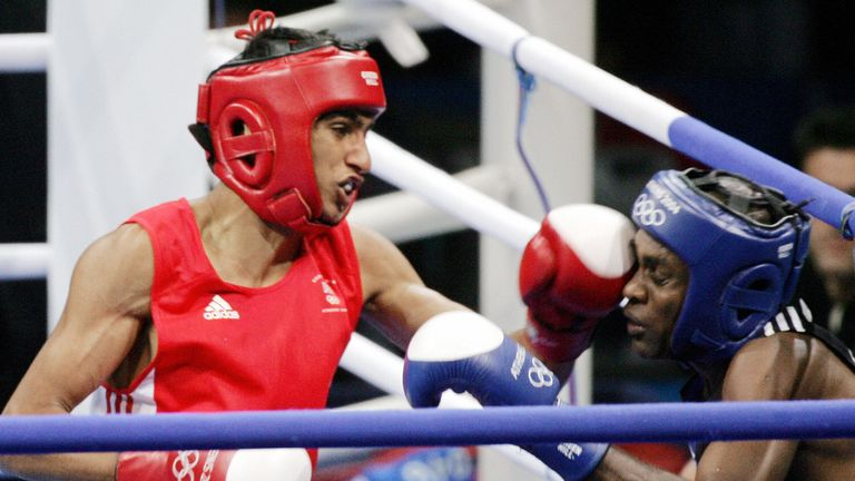 Amir Khan shared a ring with Cuban great Mario Kindelan in the Olympic final