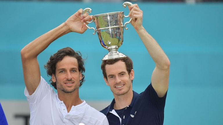 Feliciano Lopez and Andy Murray won the Queen's Club doubles title last year
