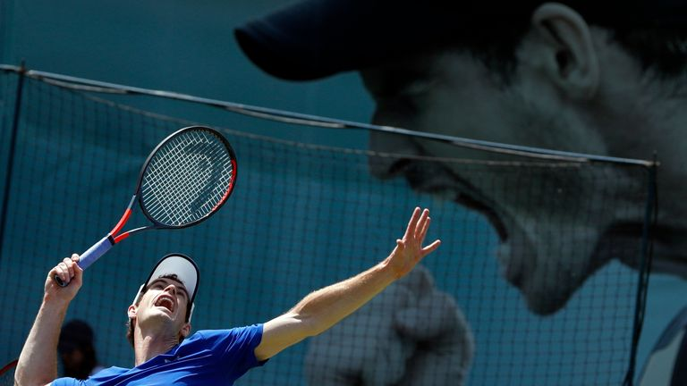 Britain's Andy Murray is set to step back onto a tennis court on Thursday