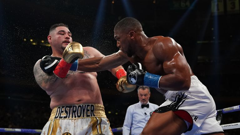 Anthony Joshua was defeated by Andy Ruiz Jr in New York