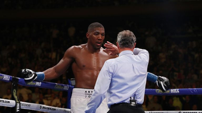 Referee Mike Griffin stopped the fight in the seventh round