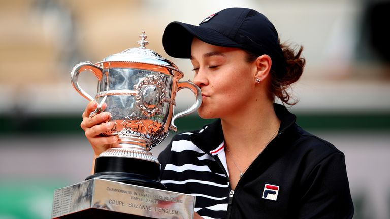Ashleigh Barty won her maiden French Open title