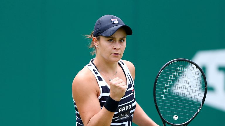 Ashley Barty withdraws from Eastbourne with arm injury