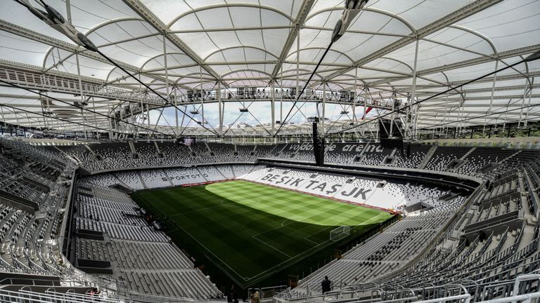 Besiktas' Vodafone Park - where the Super Cup Final will be played - has an all-seater capacity of 38,000