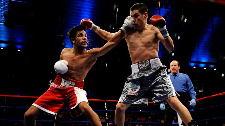 Billy Dib (L) has stepped in to face Amir Khan