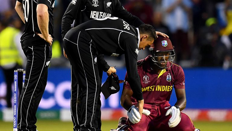 The pick of the action from Old Trafford where Carlos Brathwaite's maiden ODI century proved in vain as West Indies fell to a five-run defeat to New Zealand