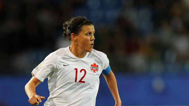 Christine Sinclair is closing in on the all-time scoring record