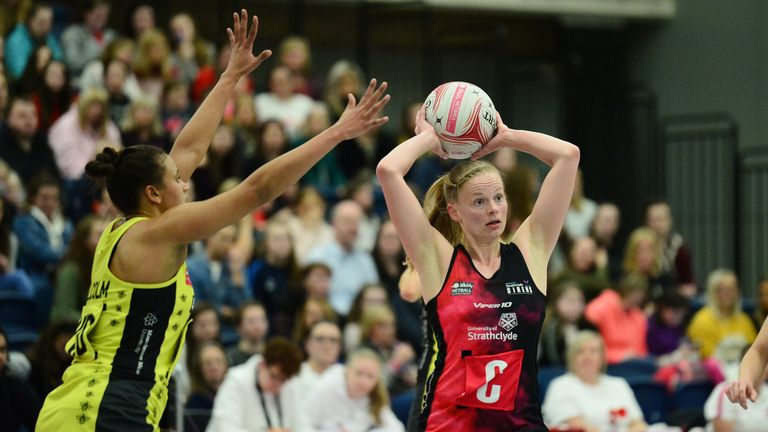 Claire Maxwell also represented Scotland at the 2015 Netball World Cup