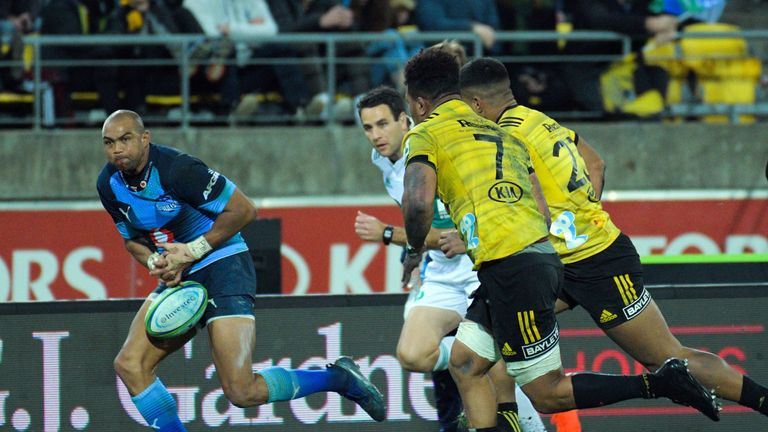 Bulls Cornal Hendricks lost the ball on the final play of the game against the Hurricanes