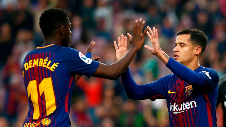 Barcelona accept they overpaid for both Ousmane Dembele and Philippe Coutinho, says Corrigan