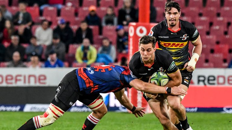Dan Kriel on the charge for the Stormers in their defeat to the Lions