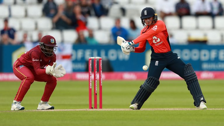Danni Wyatt struck her sixth T20I half-century for England in their 38-run win over West Indies at Northampton