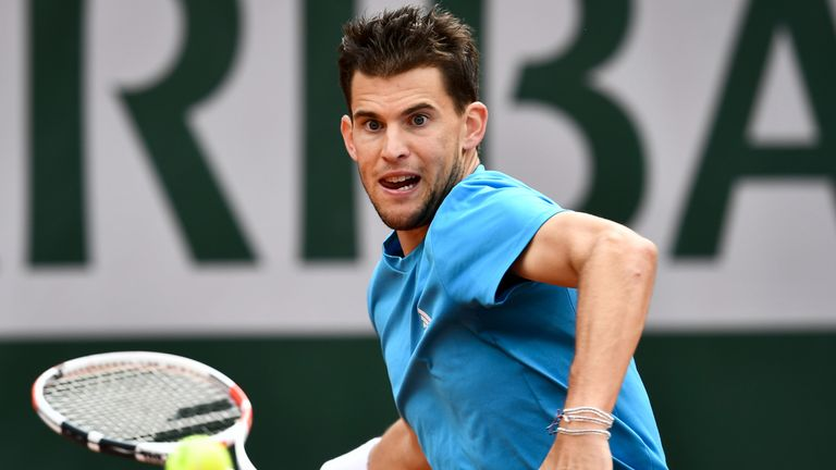 Dominic Thiem was playing in his fourth successive French Open semi-final