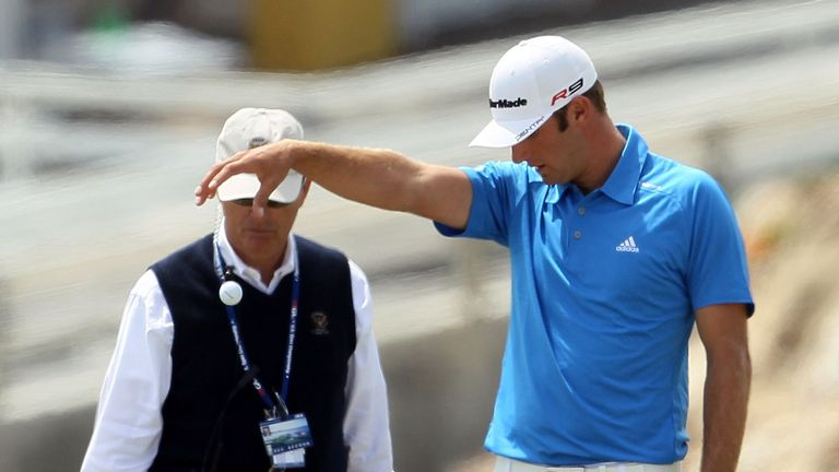 Johnson began the day with a three-shot lead but that was gone in a matter of minutes
