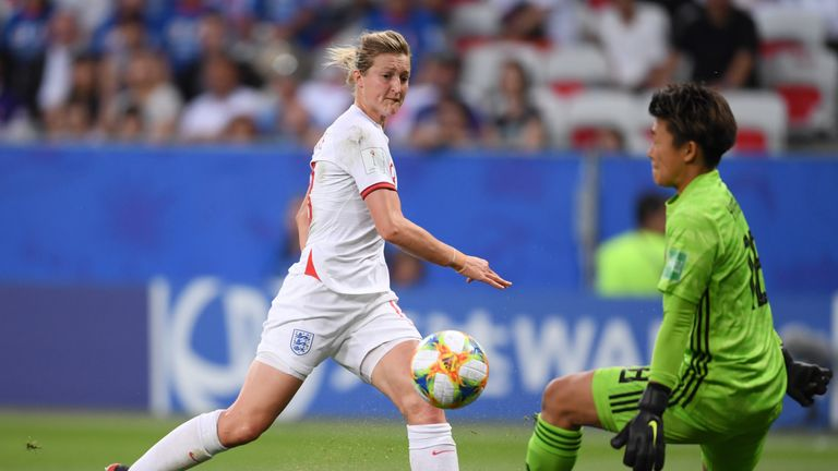 Ellen White fires England ahead against Japan in the 2-0 group stage win
