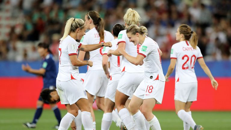 England Women take on Cameroon in the World Cup last 16 on Sunday