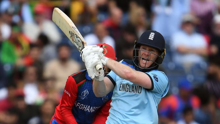 England limited Afghanistan to 247-8 to earn a fourth win in five at the World Cup