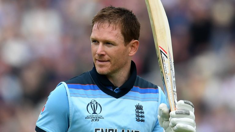 Eoin Morgan hit a 57-ball ton - the fourth fastest at a World Cup