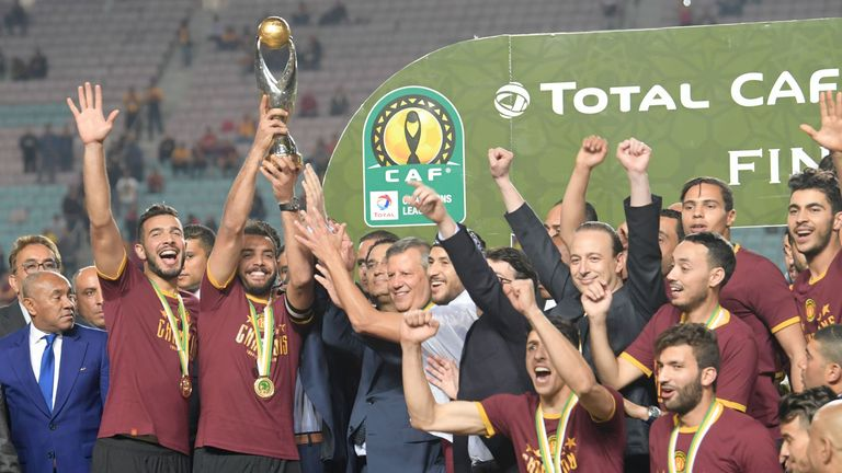 Esperance celebrate after the second leg of the African Champions League final