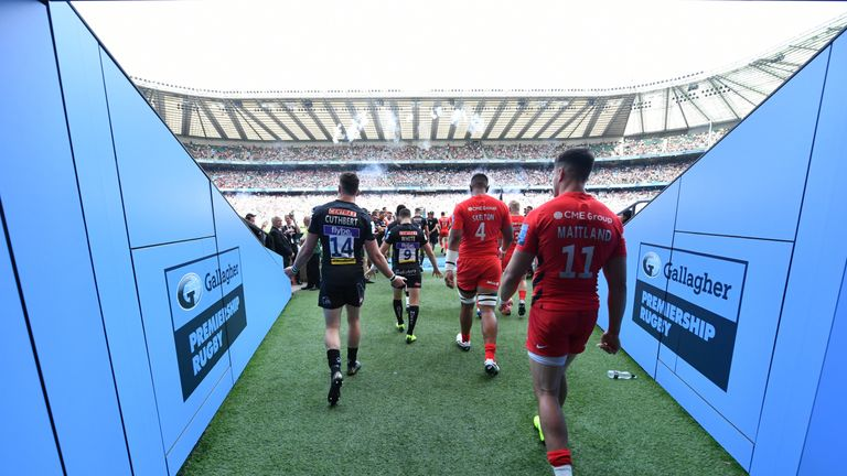 Saracens and Exeter were meeting at Twickenham for a third time in four years
